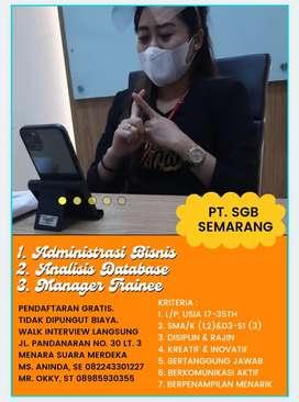 Kerja Semarangan Ijazah SMA/K-S1 Fresh Graduate