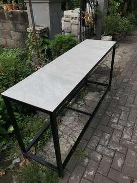 Meja makan meja masak keramik panjang 180cm