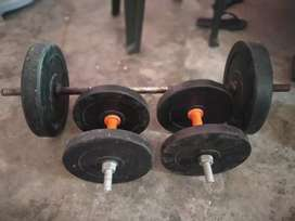 Bicep rod with weight..