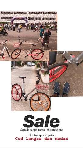 Sepeda tanpa rantai ex singapore