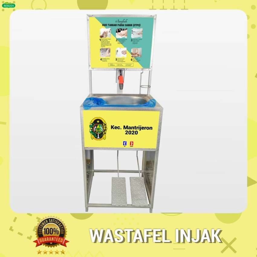 Wastafel Portable Injak dengan Logo 0