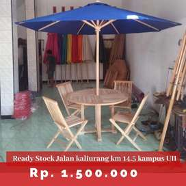Meja payung untuk Usaha resto, cafe, villa, homestay dll