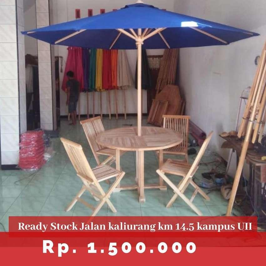 Meja payung untuk Usaha resto, cafe, villa, homestay dll 0