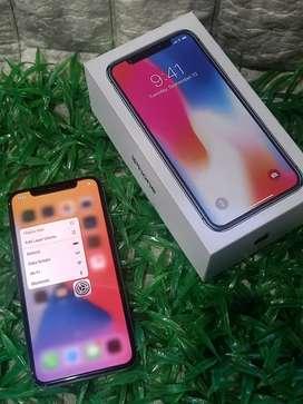 iPhone X Silver 64gb fullset terawat