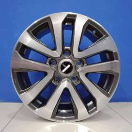 Cicil Velg Mobil HSR Ring 20 DP 10% Lubang 5x150 Grey Machine Face