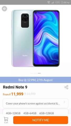 Redmi Note 9 4+128 all color available in stock
