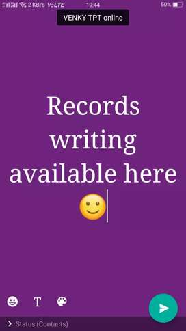Records writing available