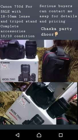 CANON 750D,18-55 IS kit and new tripod weifeng wt-3520