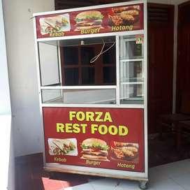 Dijual Gerobak bekas jualan sosis, kebab, burger