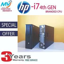 hard disk-500gb*CPU-HP i7 4TH-4gb ram&graphic 2gb/computer/dvd/hp offe