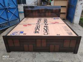 New double bed with box at wholesale price
