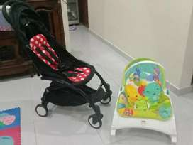 1 paket Stroller Baby Grace & Bouncer Fisher Price Newborn to Toddler