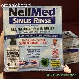 Neilmed Sinus Rinse Lengkap 1 Botol Semprot+50Premixed. ORIGINAL USA.