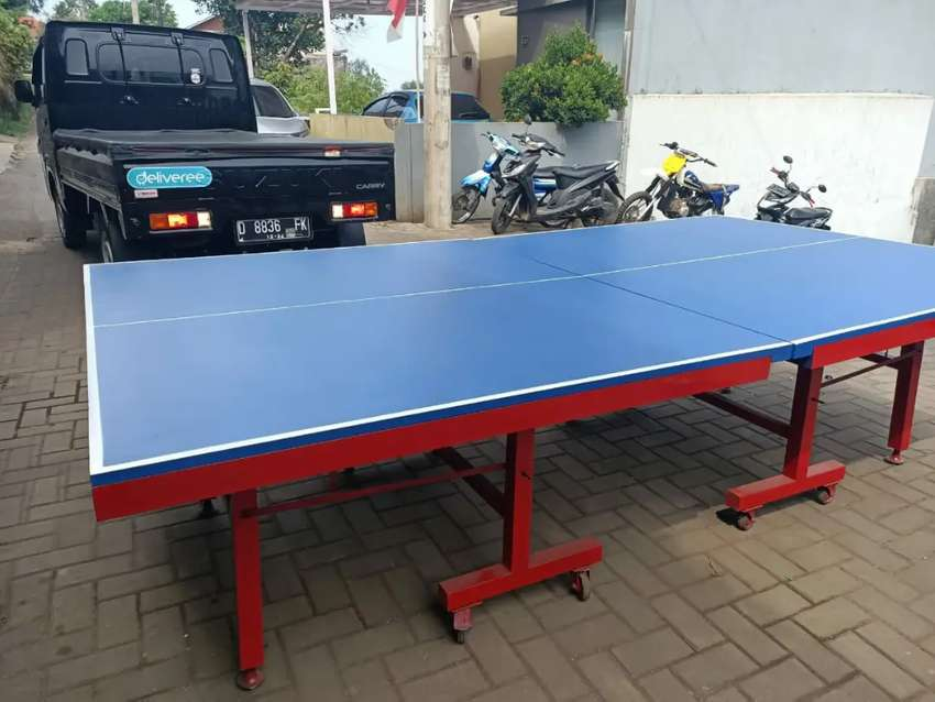 Tenis Meja MDF dan Multiplex list Besi Mewah 0