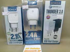 Adaptor Charger ROKER Fast Charging Free Cable Samsung Vivo