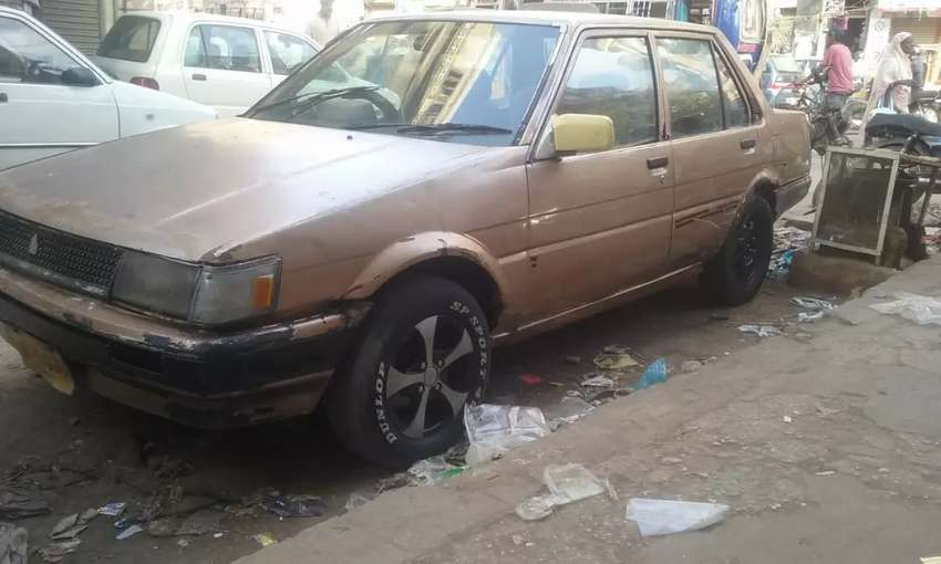 Toyota Corolla 86 AC CNG good condition, genuine parts 1300 engine 0