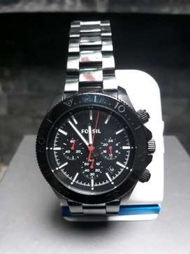 Jam tangan  FOSSIL CH-2863  Black Retro Traveler original full ist