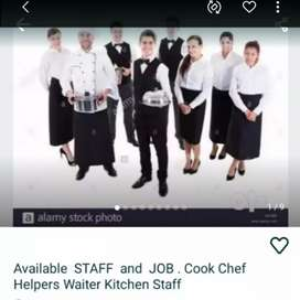 Restaurant Staff Available, Chinese Cook, Continental  Cook Helper,.