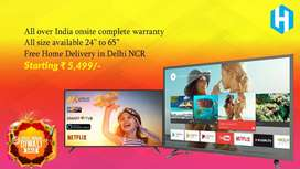 """24"""" to 65"""" all size led tv available 5,500 starting price"""