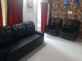 sofa set(3+1+1) price negotiable 4 months old