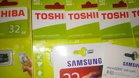 Promo k.memory card 32 gb, baru gress