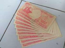 Dijual Uang Lama pecahan 100 rupiah