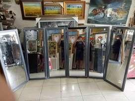 Cermin kaca kaca cermin 125 x 48 cm ukuran bingkai