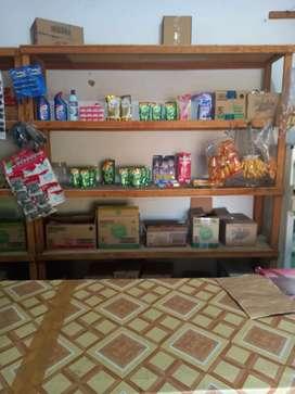 Rak kayu 4 susun bekas kedai sembako/kelontong (3 Rak)