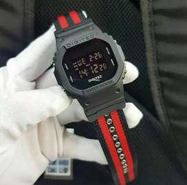 jam tangan digitec ori strap canvas new fullset,boxcard,guaranted