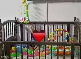Baby cot, wooden bed