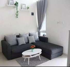 Sofa L santai sudut keluarga nyaman