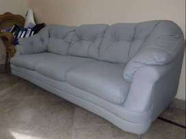 As Good as New Leatherette Grey 2+3 Seater Sofa Set. Don't Miss!