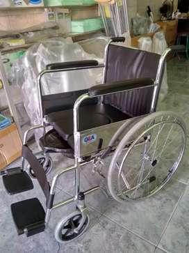 Kursi roda 2in1 pispot bab lansia