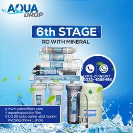 6 stages 100 GPD Euro Tech -Best RO Plant water filter for home