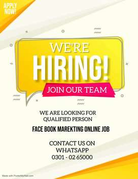 creative Marketing Executive - Face Book Marketing Job