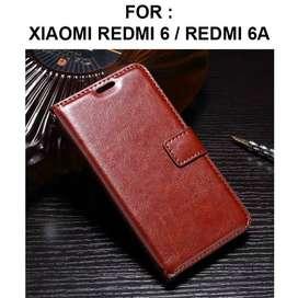 Flip cover wallet case Xiaomi Redmi 6 - Redmi 6A casing dompet leather