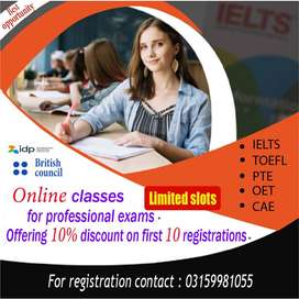 Spoken English, IELTS, PTE, OET classes