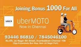 UBER MOTO Chennai - Hiring for Bike taxi