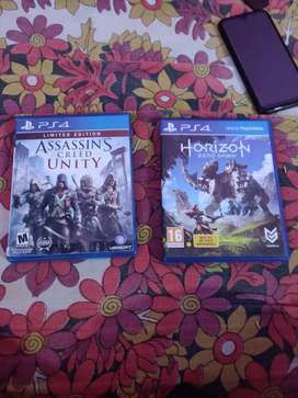 Two ps4 game for sale...horizon zero dawn and assassins creed unity...