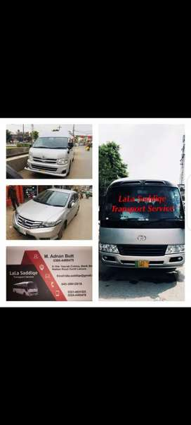 Rent A Toyota Coaster Saloon Hiroof Hiace Coach Bus