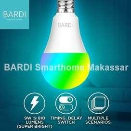 BARDI 9 W Lampu Led Wifi Warna Warni Remot Dari Hp Pintar Otomatis