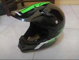 Helm KLX hijau baru