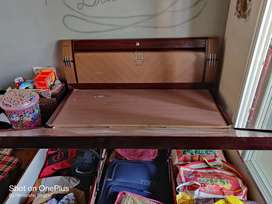 Folding double bed with sleepwell metres