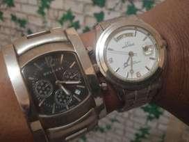 jam tangan elite sepasang Bvlgari dan mirage kondisi OFF