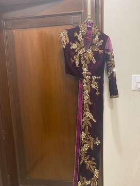 Modern-indian suit with golden brocade pants