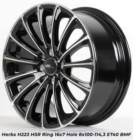 HERBS H223 HSR R16X7 H8X100-114,3 ET40 hitam polish