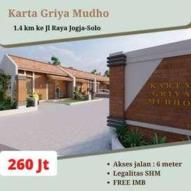 Rumah Dijual Harga Ekonomis Tipe 36 Luas Tanah 60 di Kemudo Prambanan