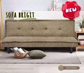 Sofa bed Bahan kain Bright termurah