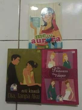 Buku novel sang putri dan si miskin