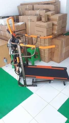 Promo Kota Batu - Treadmill Manual 6 Fungsi Gold